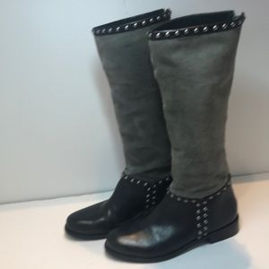 Matisse Conquest Studded Suede & Leather Boots